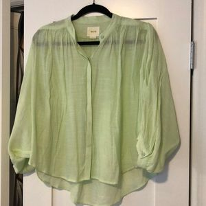 Floppy lime green top